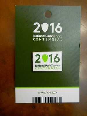 NATIONAL PARK SERVICE 2016 CENTENNIAL PIN, NEW ON CARD