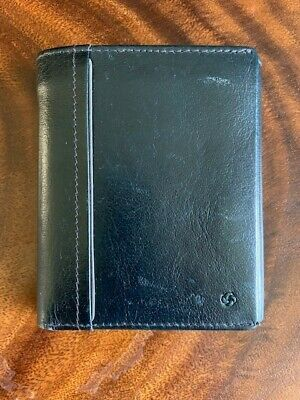 Samsonite leather men wallet, navy blue