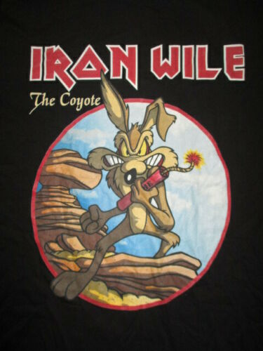 WILE E COYOTE - IRON WILE - ROADRUNNER (3XL) T-Shirt IRON MAIDEN