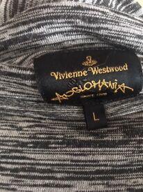 Vivienne Westwood winter fine wool asymmetric long sleeve dress. Size 12/14
