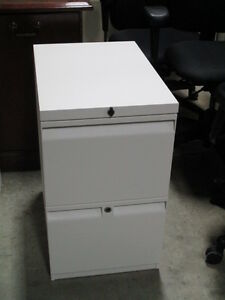 New White 2 Drawer Peds File/File