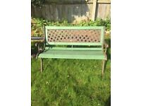 Metal and wooden garden bench (money to be donated to Brain Tumour Research)