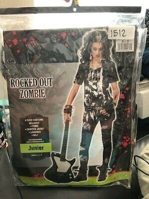 Rocked Out Zombie Junior Girls 4 Piece Costume Size Small 3-5 New!!!](Zombie Costumes For Girls)