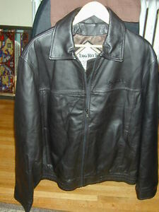 NEW - NEVER WORN - MEN'S BLACK LEATHER JACKET
