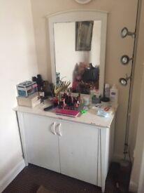 White Dressing Table & Mirror - Dresser