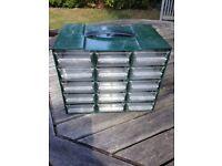Small set of drawers for storage: garage, craft work, hobbies