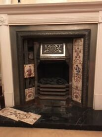 Beautiful Victorian Fire Surround with original tiles