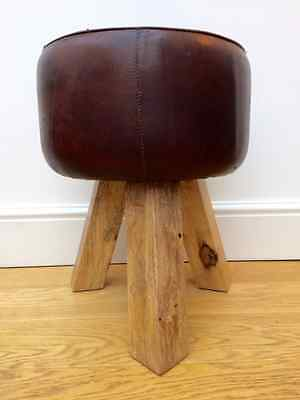 vintage footstool vaulting horse gym pommel seat Leather stool 186 wooden chair