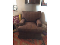 Supremely Comfortable Vintage Feather-filled Armchair Excellent Condition