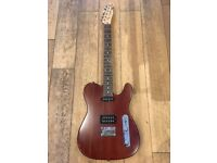 SQUIRE TELECASTER.MAHOGHANY WITH RARE HUMBUCKER EXCELLENT CONDITION LOW ACTION AND PLAYS SUBERBLY
