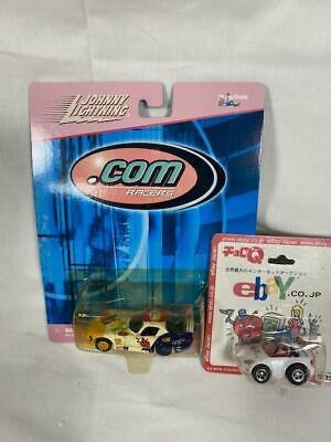 2 NEW '99 JOHNNY LIGHTNING RACER/ '01 JAPAN EBAY LOGO EBAYANA COLLECTIBLE CARS