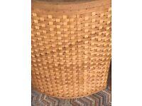 wicker laundry basket- large