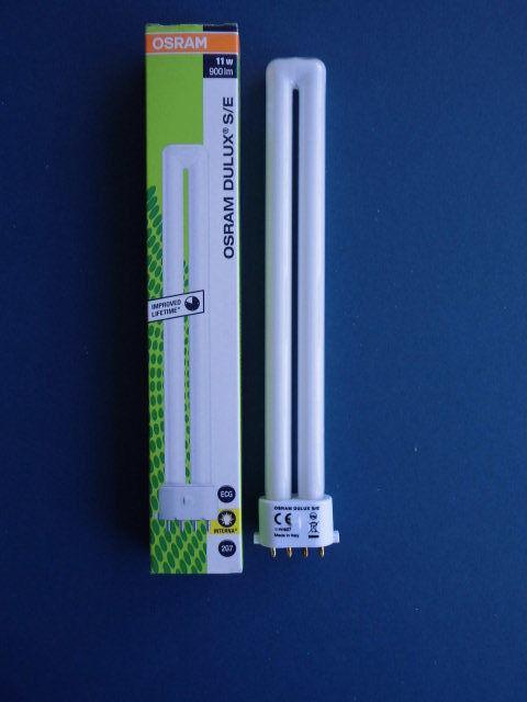 10 x OSRAM - Dulux S/E - 11 Watt/827 Interna - 2G7 - 900 lm
