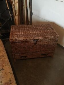 Wicker Chest with Drawer