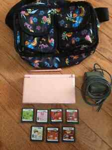 Nintendo DS Lite with Games and Carrying case