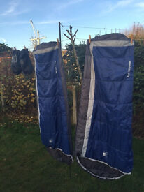 2x Karrimor Junior Sleeping Bags, Ideal Xmas Gift for siblings, For Sleepovers or summer camping