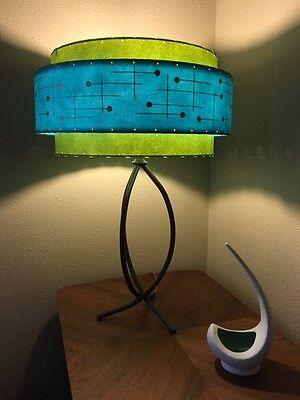Vintage fiberglass lamp shadeebay mid century vintage style 3 tier fiberglass lamp shade retro atomic turquoise mozeypictures Gallery