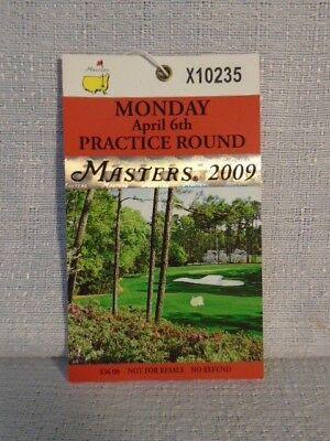 2009 Augusta National Masters Tournament Original Ticket Angel Cabrera