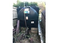 600 lt of heating oil and a titan 2400 lt oil tank