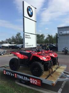 2 ATVs & Trailer - Only $92 bi-weekly*