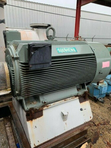 Siemens Electric Motor 500 HP, 3580 RPM, 588S Frame, 2300 Volts, CGZ Type