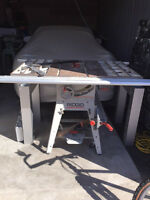 "Table Saw - Rigid 10"" - Cast Iron Top - Mobility Kit"
