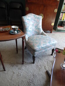 Love Seat with Matching Antique Chair