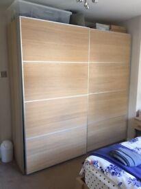 Ikea PAX wardrobe with sliding doors - 200x66x201 cm