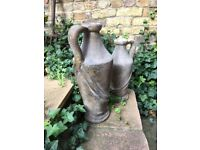 French Stone Urns -2 Vases Ornaments, Sculptures, Statues immaculate condition