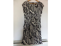 F&F Black and White Dress with Pockets - Size 14