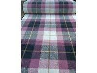 Axminster Tartan carpet runner cheap