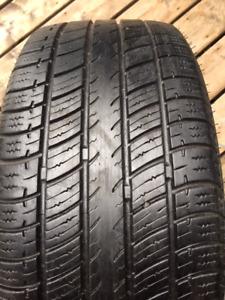 Set of 225/50/16 Uniroyal Tiger Paw all season tires installed