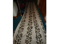 Single Curtain with Matching Romasn Blind, Cushions and Table Runner