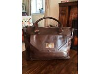 Ladies Dark Brown Leather Bag purchased from Marks and Spencers (unused but without tags)
