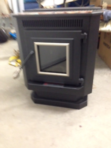 brand new pellet stove and piping