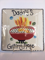 Make Dad a Ceramic Grilling Plate for Father's Day!
