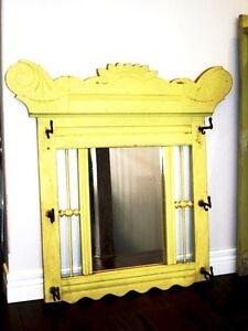 Eastlake SHABBY CHIC antique Oak CARVED mirror 130 yrs+