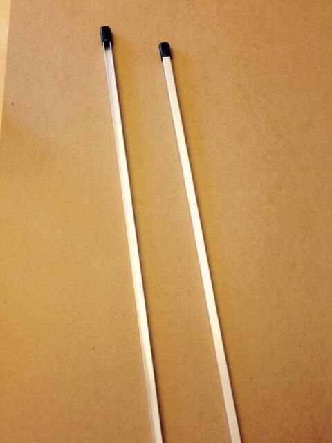 "2  -  30"" Aluminum Security Yard Sign Stakes for Brinks, & a"