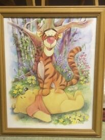 Winnie the Pooh and Tigger framed picture