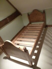 Heavy Solid Wood Small Single 2ft 6 Bed (Free Mattress available if wanted)