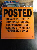 """PRICE REDUCED - """"Property Posted"""" aluminum sign."""