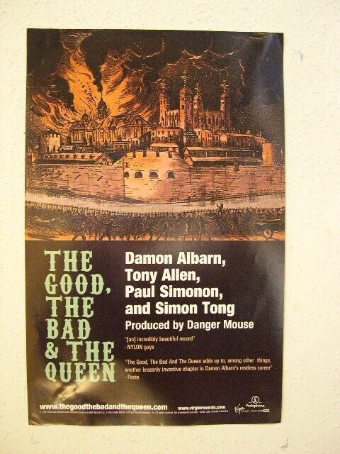 The Good The Bad And The Queen Poster & Damon Albarn Blur Gorillaz