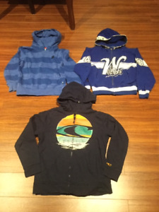 THREE HOODIES  FOR  $20.00.   ALL QUALITY  AND CLEAN