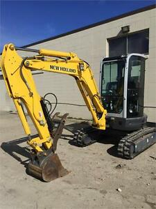 FOR SALE: 2014 NEW HOLLAND E35B MINI-EXCAVATOR - LOW HOURS