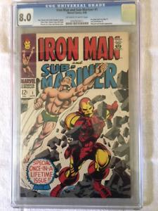 IRON MAN & SUB-MARINER #1 comic book - CGC 8.0 Blue Label !
