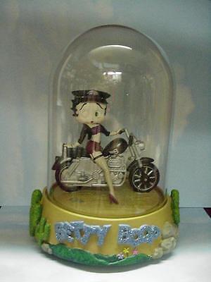 Betty Boop MUSICAL FIGURINE DOMED BIKER DESIGN (RETIRED ITEM) Betty Boop Musical Figurine
