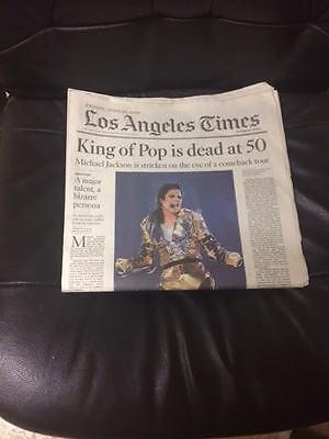 Michael Jackson Los Angeles Times Newspaper 6 26 09