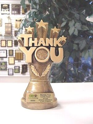 Employee Thank You Appreciation Award Heavy Resin Trophy Coach Business