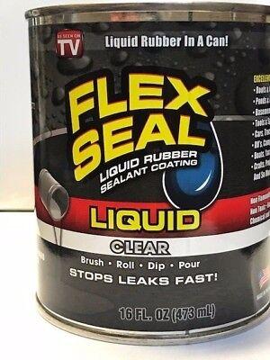 Flex Seal Clear Liquid Rubber Sealant 16 Oz Lfsclrr16 Brush Dip Roll Pour