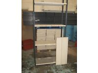 PARCEL OF USED STORAGE GARAGE SHELVING - 39 FRAMES & 88 SHELVES £830+vat